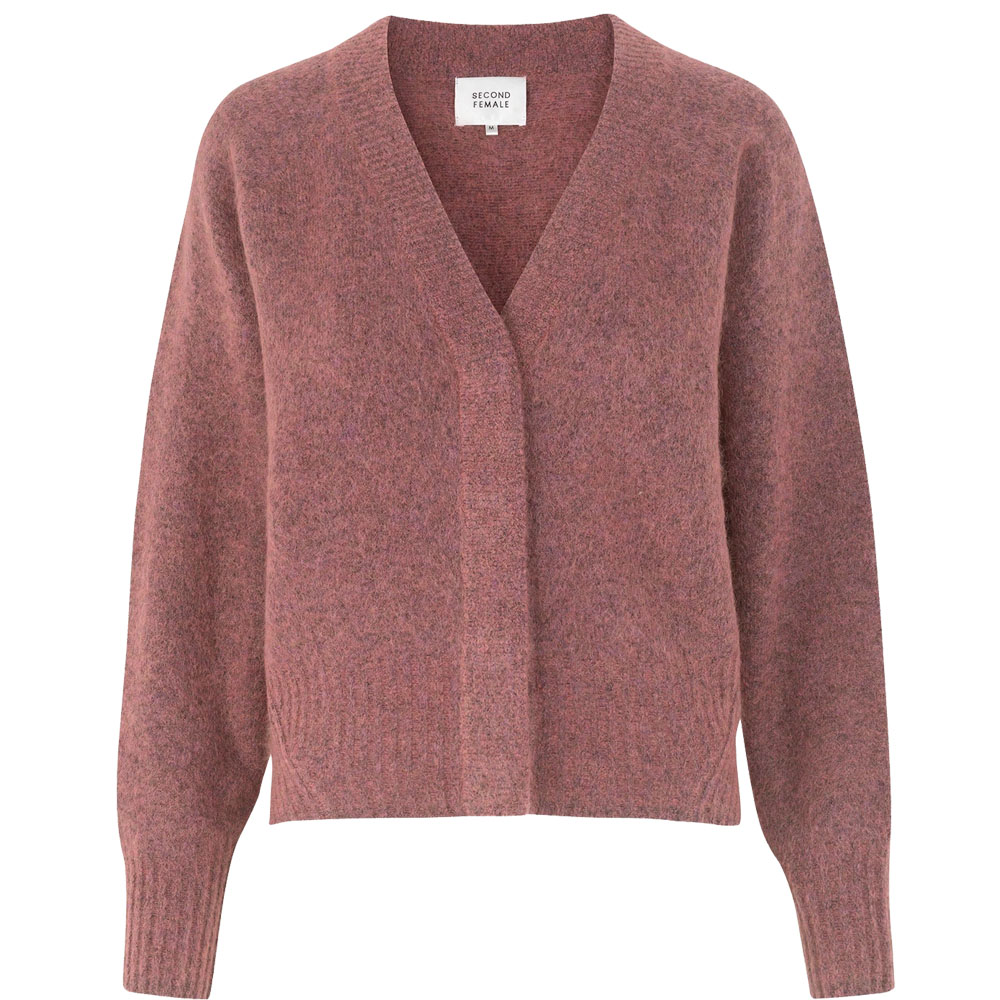 Bilde av Second Female - Brook Knit Boxy Cardigan Desert Sand